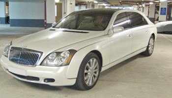 White Mercedes Maybach Car Hire Fleet London Herts and Essex