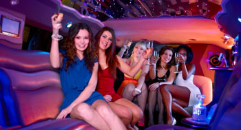 hen party + stag party / bachelor party limo hire London