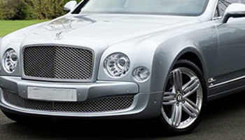 Rent a Silver Bentley Mulsanne Car Hire Fleet London Herts and Essex