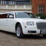 White Chrysler limo hire 3