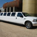 White Ford Excursion Limo Hire 1