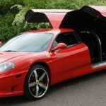 Red Ferrari Limo Hire 1