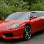 Red Ferrari Limo Hire 5