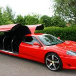 Red Ferrari Limo Hire 6
