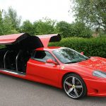 Red Ferrari Limo Hire 7