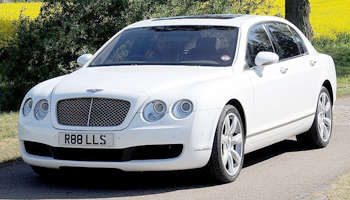 Rent a White Bentley Flying Spur Car Hire Fleet London Herts and Essex
