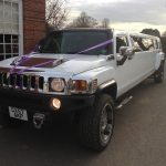 White Hummer Limo H3 Hire 2
