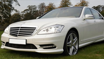 White Mercedes S Class Car Hire Fleet London Herts and Essex