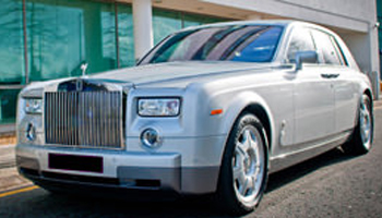 Silver Rolls Royce Phantom Car Hire Fleet London Herts and Essex