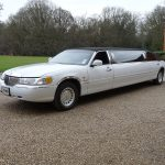 Lincoln Town Car white limo hire 3