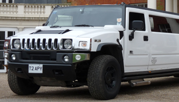 white Hummer wedding limo hire