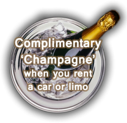 Rent a limo hire in London - free bubbly