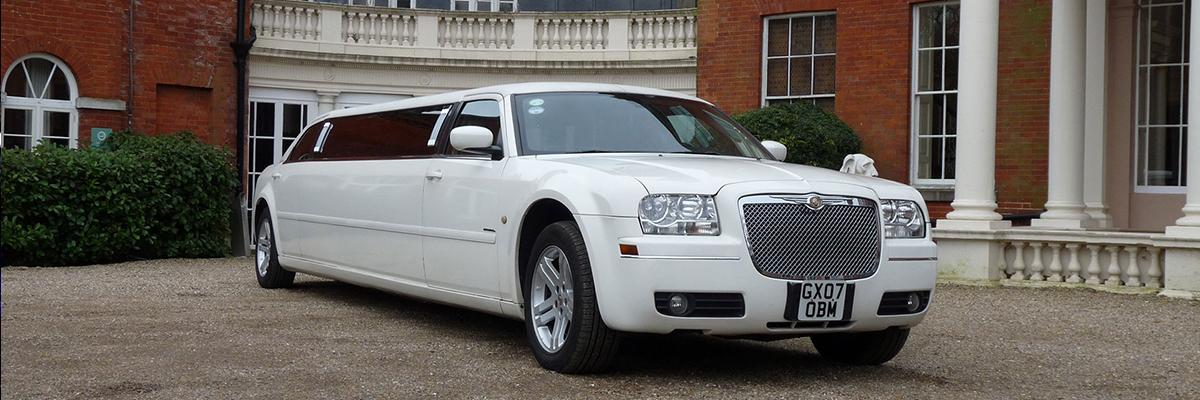 White Chrysler Limo 4