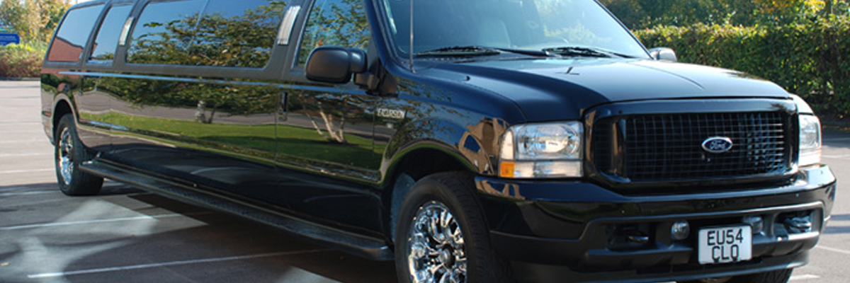 Black Ford Excursion Limo 1