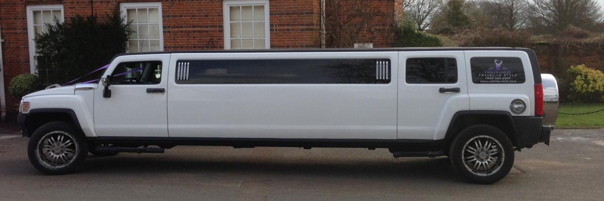 White Hummer Limo H3 1