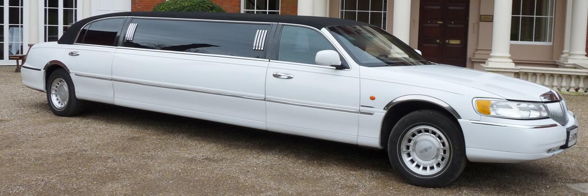 White Town Car Limo 3