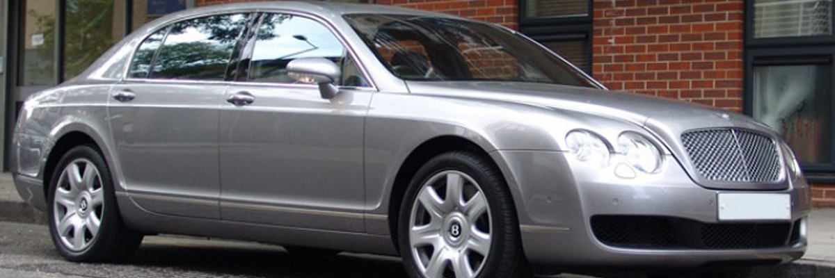 Silver Bentley Flying Spur 1