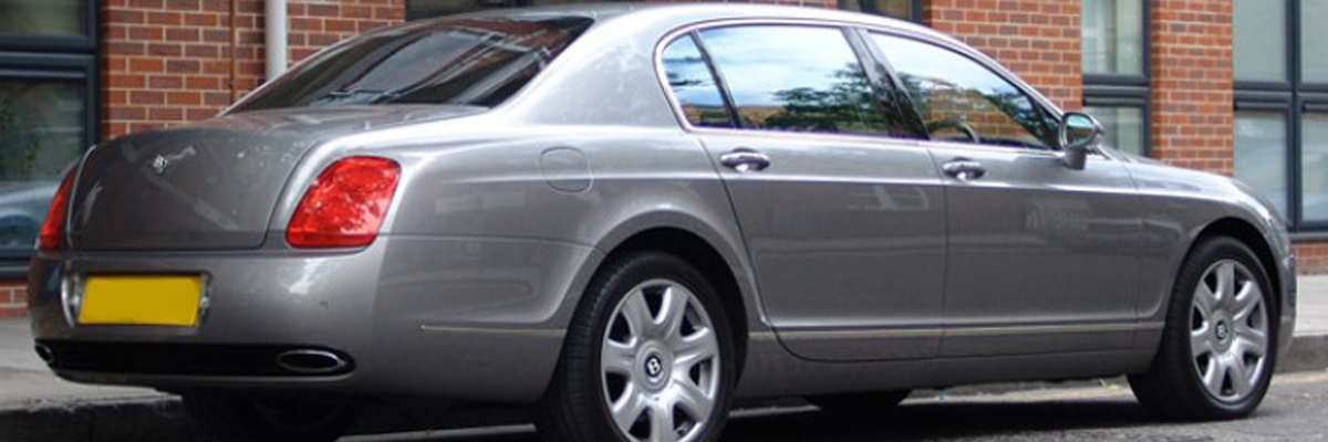 Silver Bentley Flying Spur 2