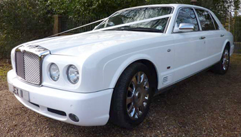 Rent a White Bentley Arnage Car Hire Fleet London Herts and Essex