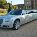 Silver Chrysler limo Hire 1