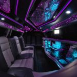 White Chrysler limo hire 4