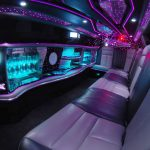 White Chrysler limo hire 5