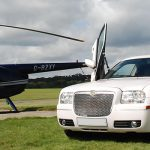 White Chrysler limo hire 2
