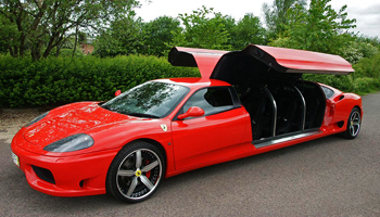 Red Ferrari Limo Hire London Herts and Essex