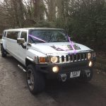 White Hummer Limo H3 Hire 4