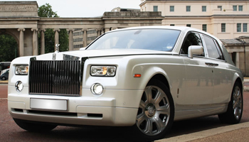 WhiteRolls Royce Phantom Car Hire Fleet London Herts and Essex