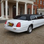 Lincoln Town Car white limo hire 2