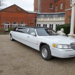 Lincoln Town Car white limo hire 4