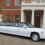 Lincoln Town Car white limo hire 1