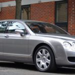 Silver Bentley Flying Spur hire London Herts & Essex 1