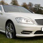 White Mercedes S-Class hire London Herts & Essex 1