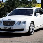 White Bentley Flying Spur Hire London Herts & Essex 2