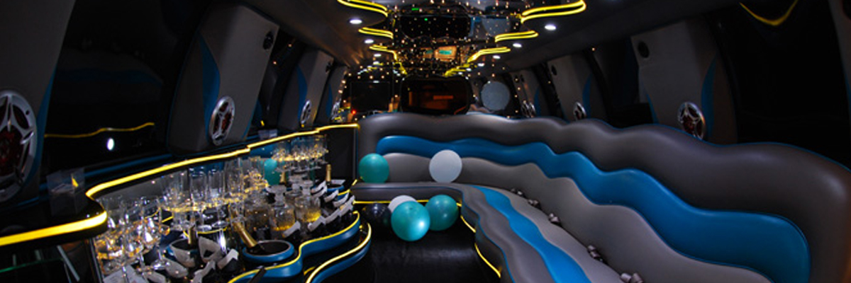 White Ford Excursion Limo 3