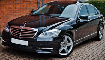 Mercedes limousine for hire in London