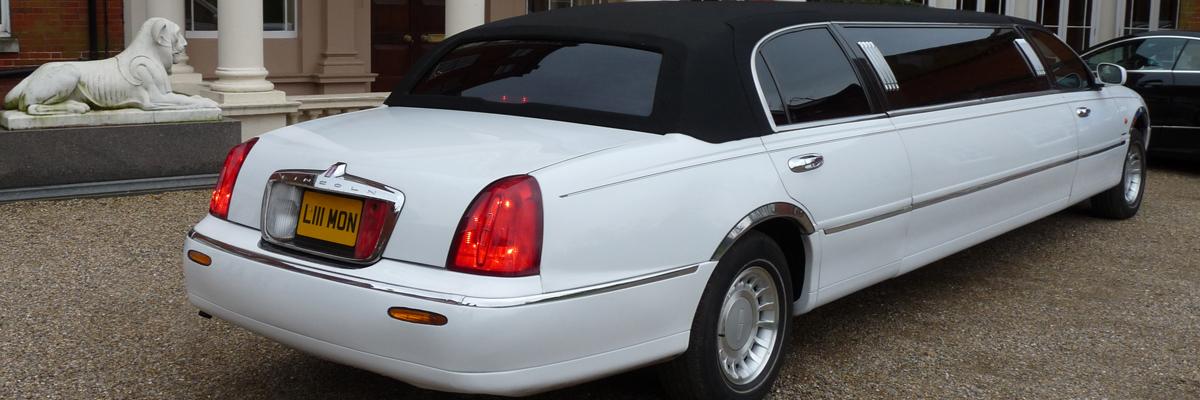 White Town Car Limo 1