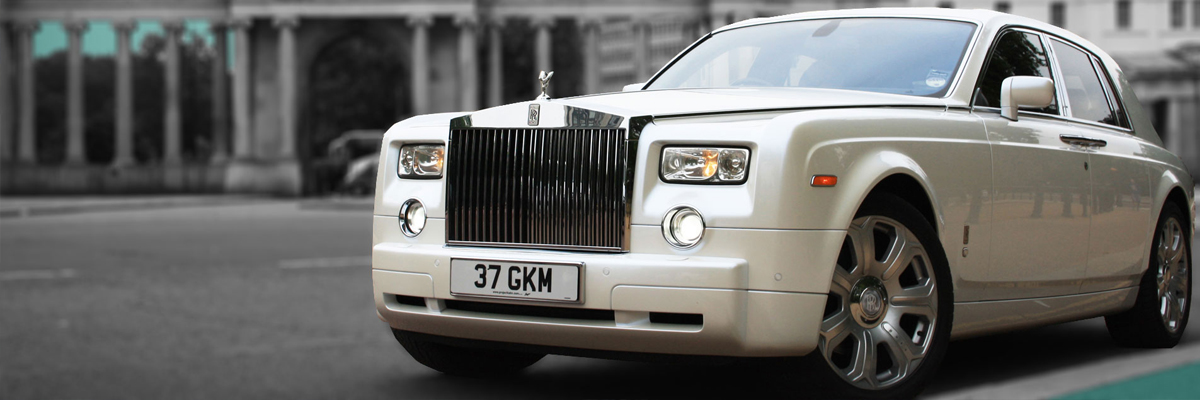 White Rolls Royce Phantom 1