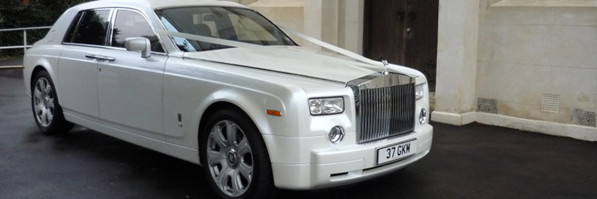 White Rolls Royce Phantom 3