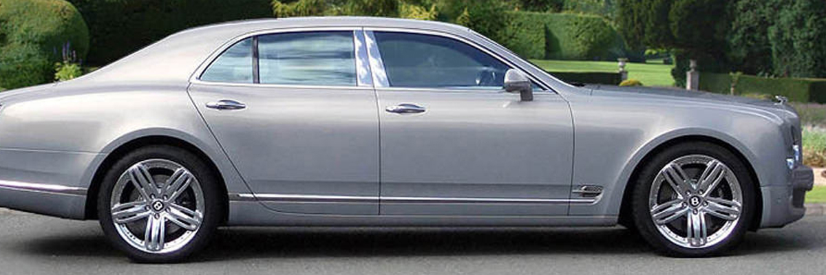 Silver Bentley Mulsanne 1