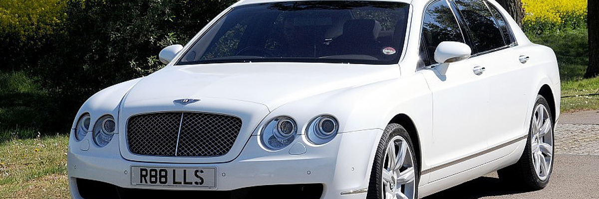 White Bentley Flying Spur 1