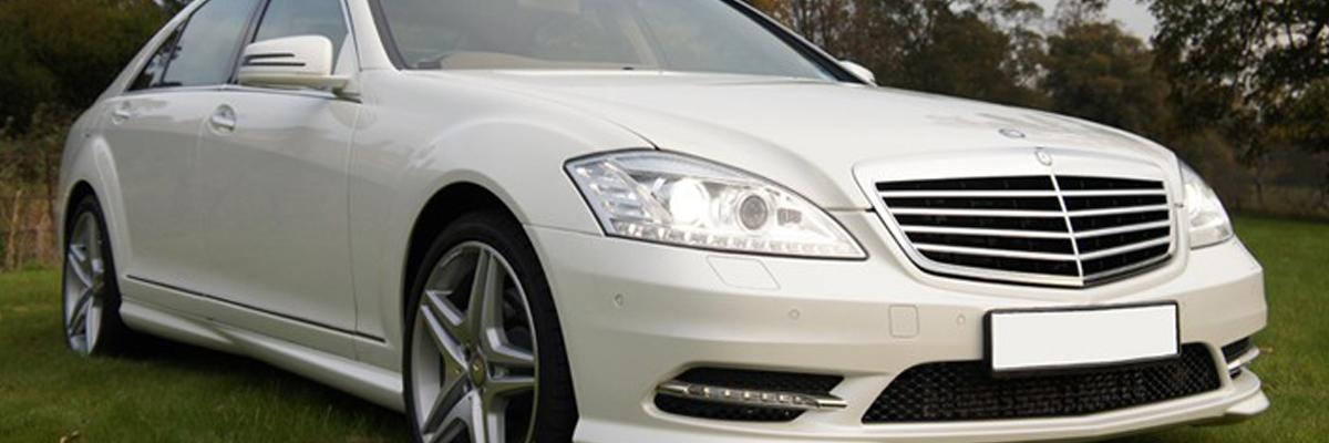 White Mercedes S Class 2