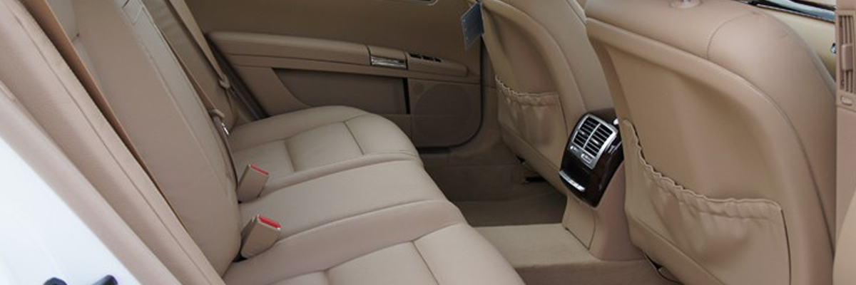 White Mercedes S Class 3